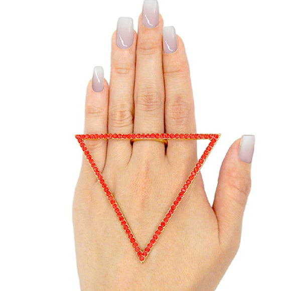 GOLD TRIANGLE RING SIZE 8 ( 2200 )