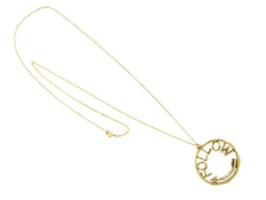 Gold Metal Long Necklace with Follow Arrow Pendant