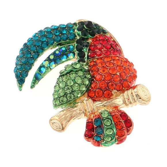 TOUCAN BIRD BROOCH MULTI COLOR STONES ( 1340 MT )