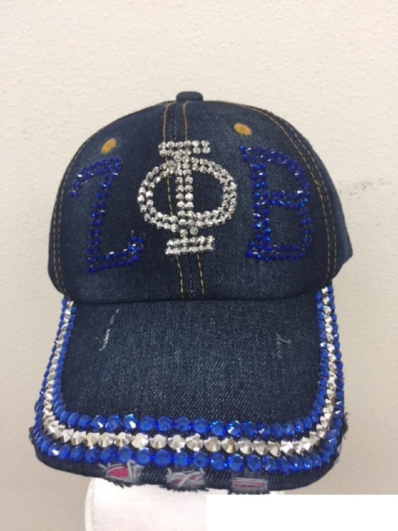 DARK BLUE DENIM ZETA PHI BETA HAT ( 0252 )
