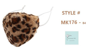 ANIMAL PRINT FURRY MASK ( 176 )