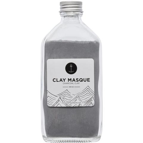 Activated Charcoal Clay Masque - 200ml (comes with brush & spoon)