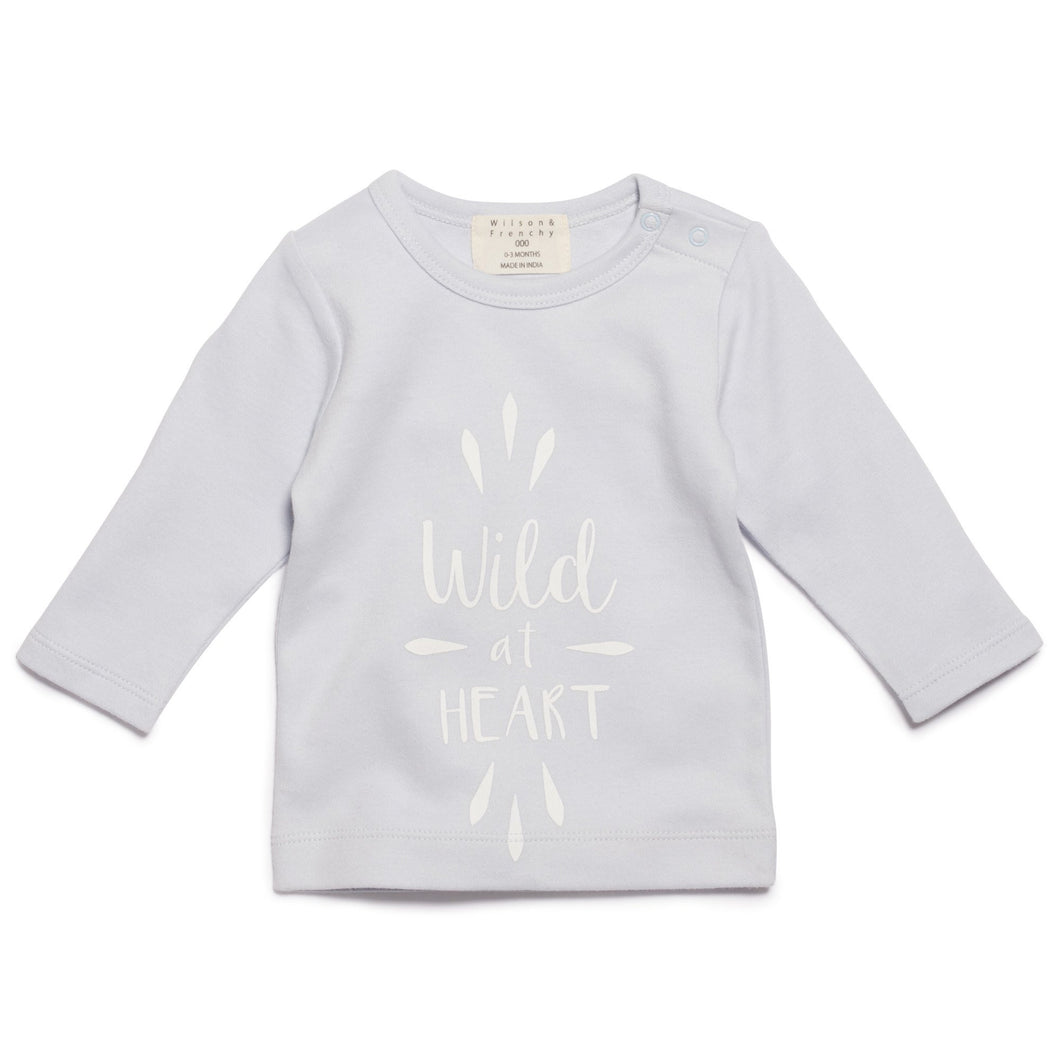 Wilson and Frenchy Wild at Heart long sleeve top