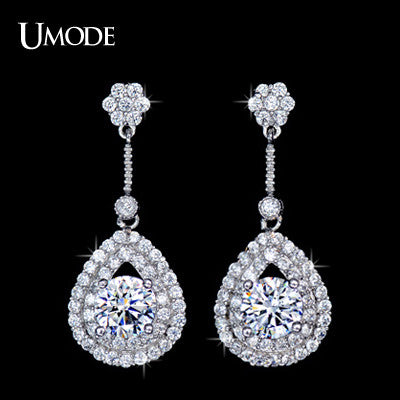 UMODE New! Delicate Trendy Brand Zircon Drop Jewelry Earrings UE0088