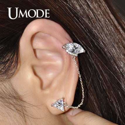 Umode Stunning Ear Cartilage Piercing Stud Earring Of Triangle