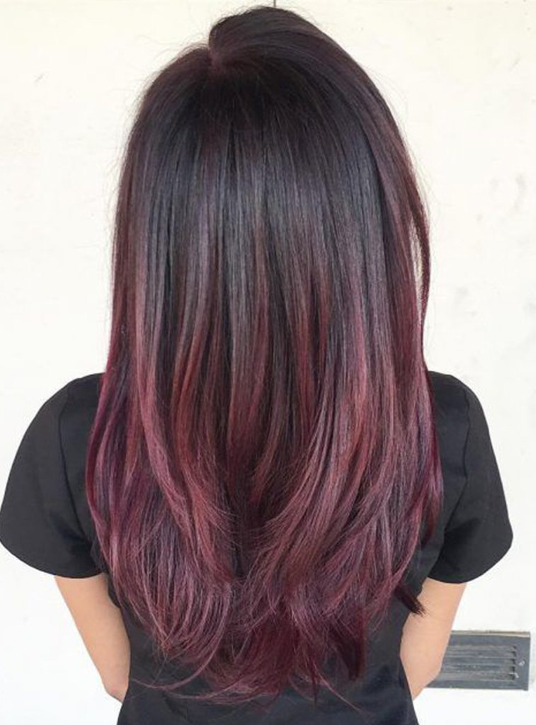 Hair Extensions Black Red Ombre Belle Hair