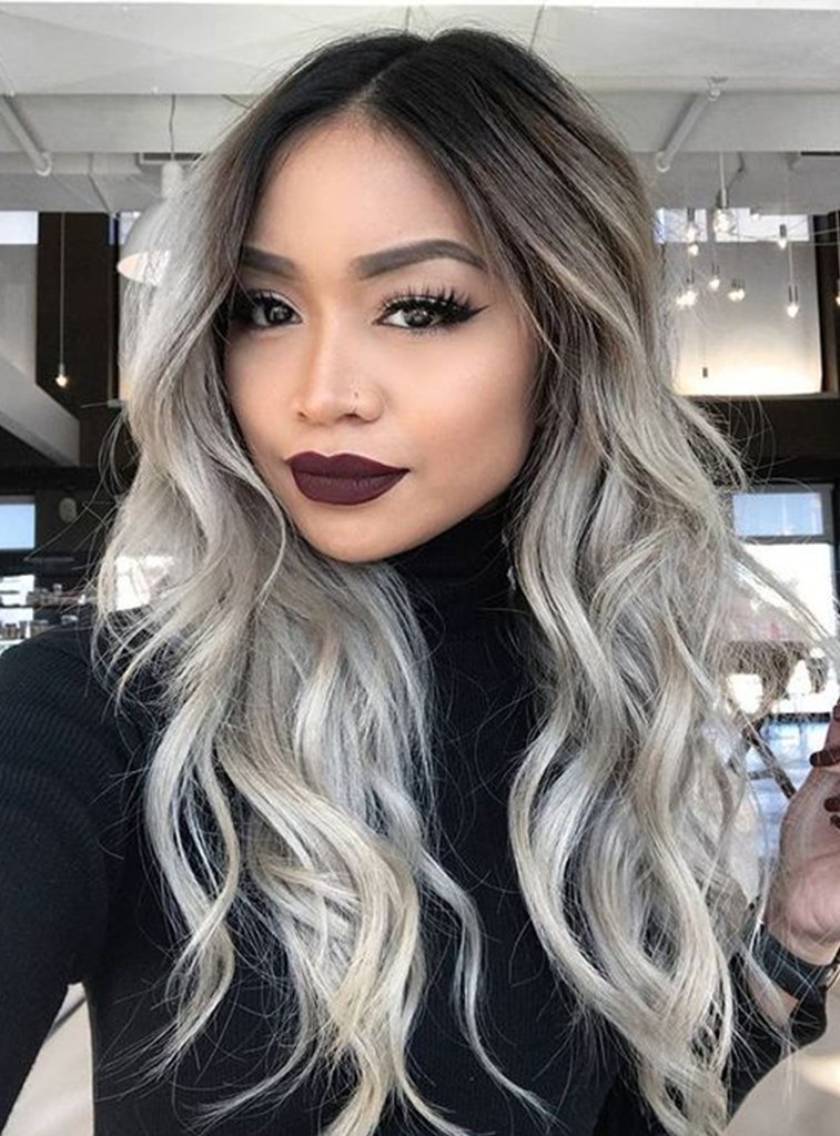 Hair Extensions | Black Gray Ombre | Belle Hair