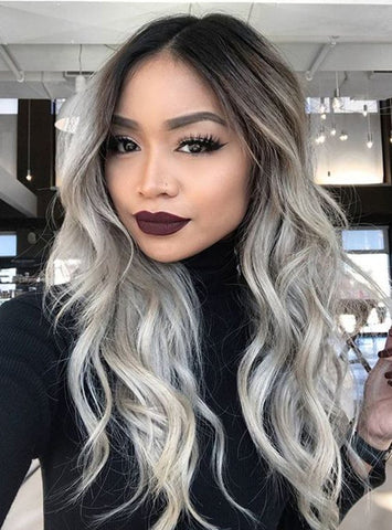 Black Gray Ombre