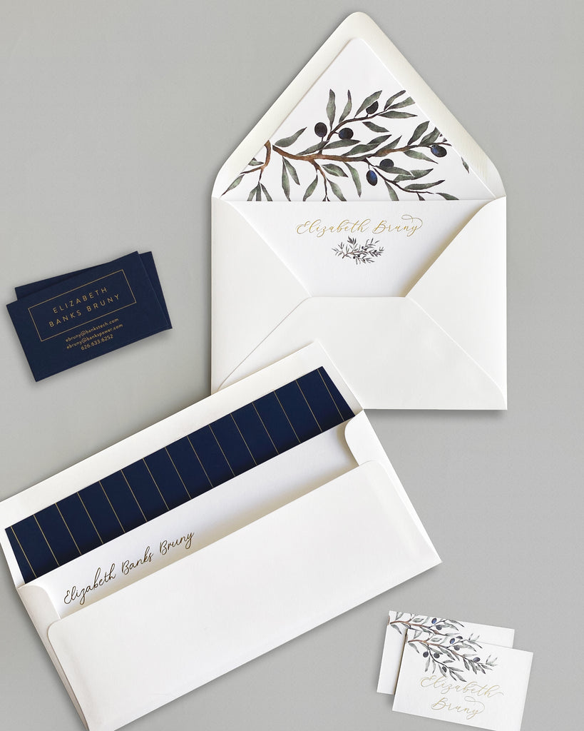 Classic Olive Branch Custom Stationery