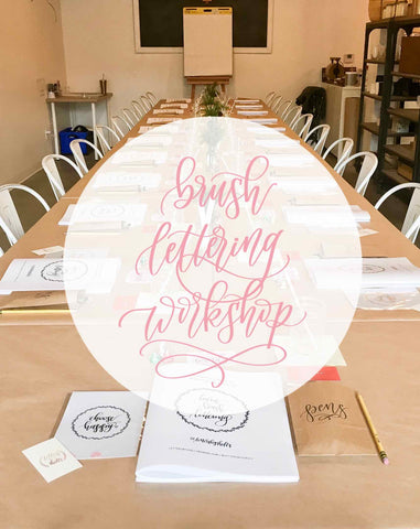 Brush Lettering Workshop Coming Your Way!