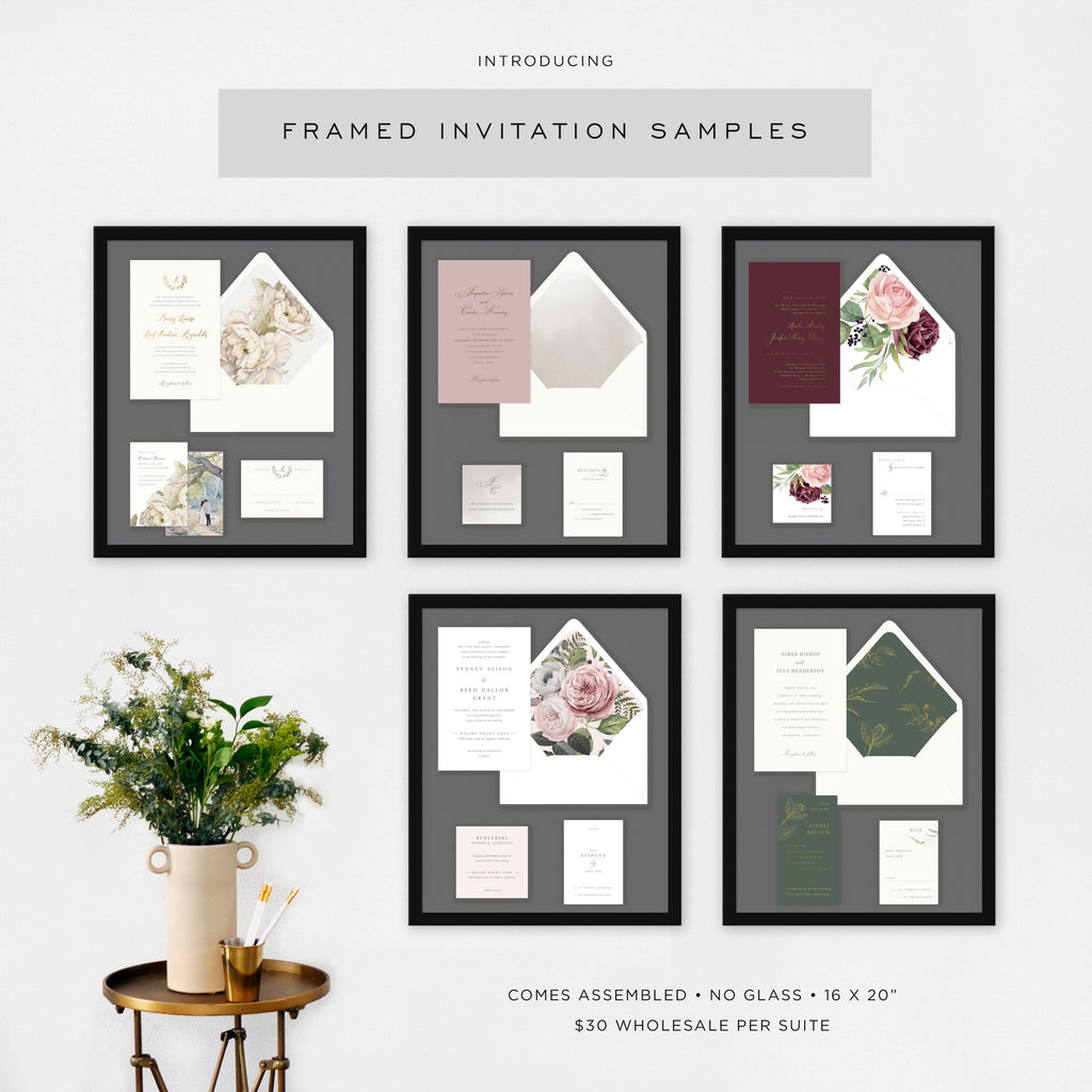 Framed Invitation Samples