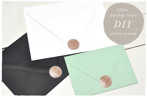 Super easy DIY! Glitter Envelope Sealers