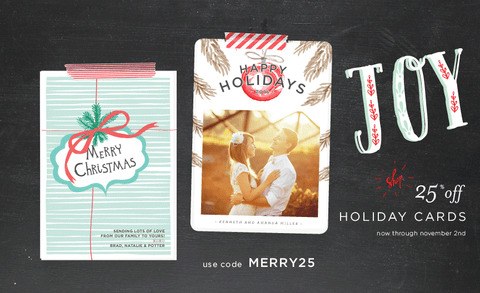 Oh Joy! 25% off all Holiday Cards!