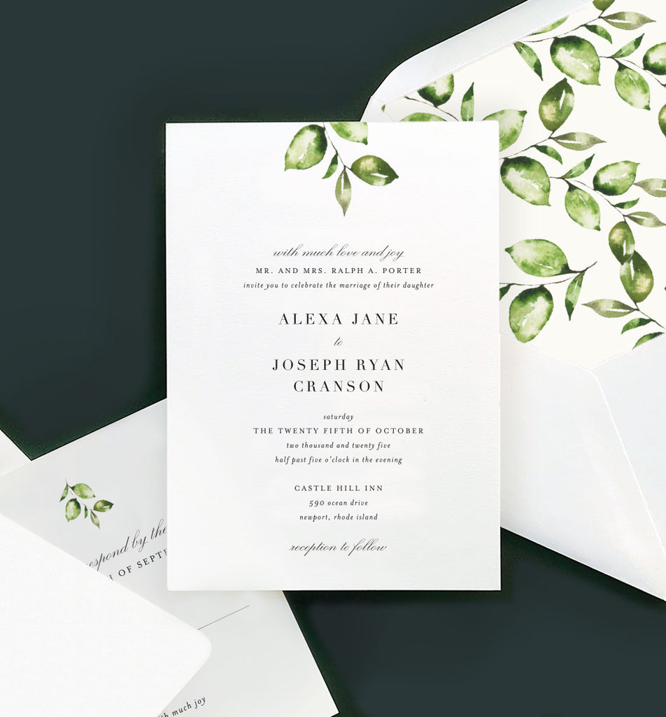 Wedding invitations + custom design