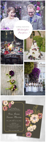 Wedding Inspiration: Midnight Purples