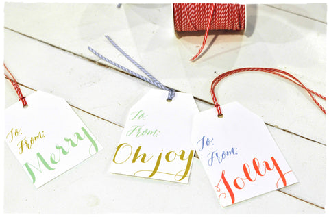 Oh Joy! Holiday gift tags