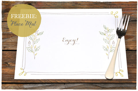 Freebie Download: Frame Place Mat