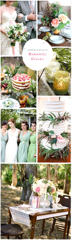Wedding Inspiration: Romantic Greens