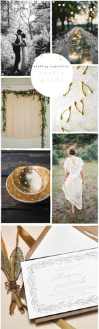 Wedding Inspiration: Rustic Golds