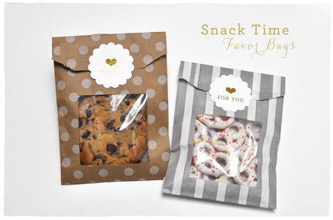 DIY: Snack Time Favor Bag