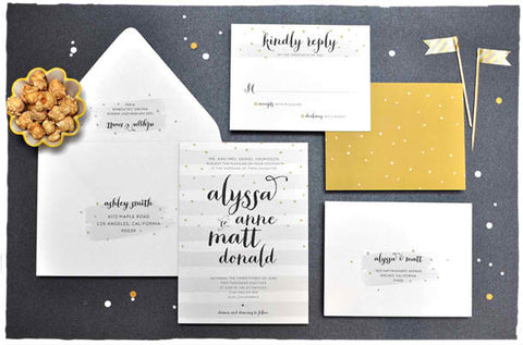 Wedding Sprinkles Invitation Suite