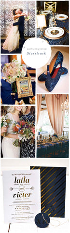 Wedding Inspiration: Starstruck with Gold, Blush & Navy