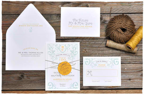 Taffeta Wedding Invitation Suite