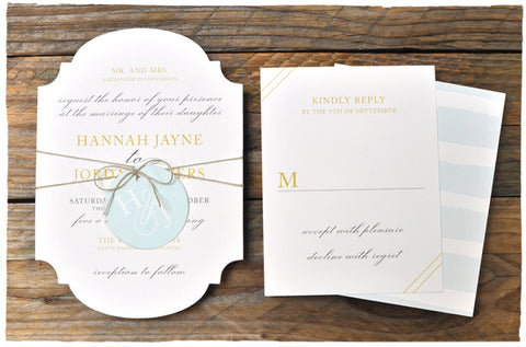 Tide Wedding Invitation Suite