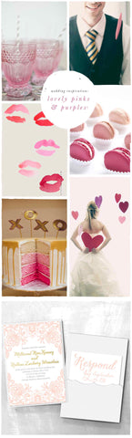 Wedding Inspiration: Lovely Pinks & Purples