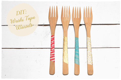 DIY: Washi Tape Utensils