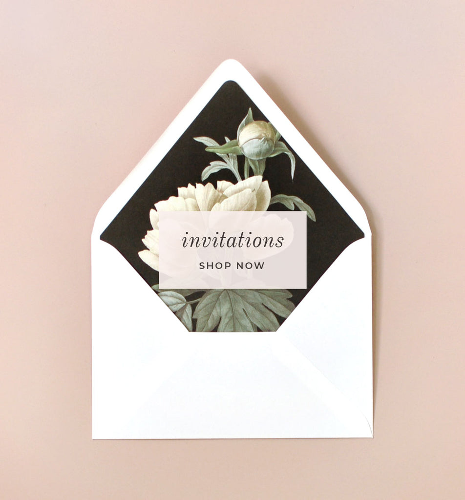 Custom Wedding Invitations and Stationery Smitten on Paper