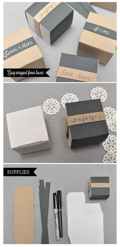 Easy favor boxes