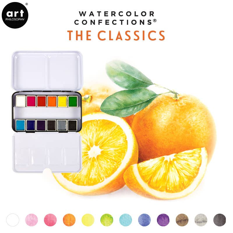 Art Philosophy - Watercolor Confections - The Classics