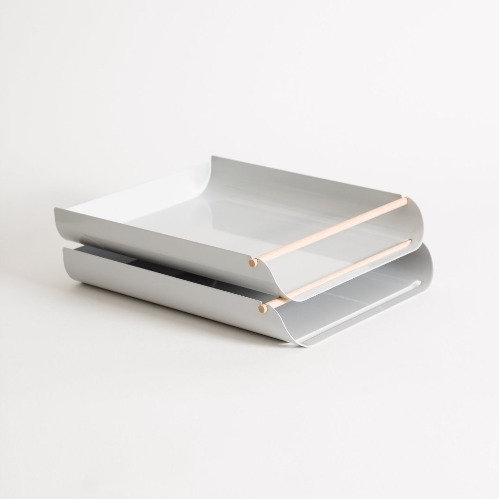 Arc Paper Tray Grey