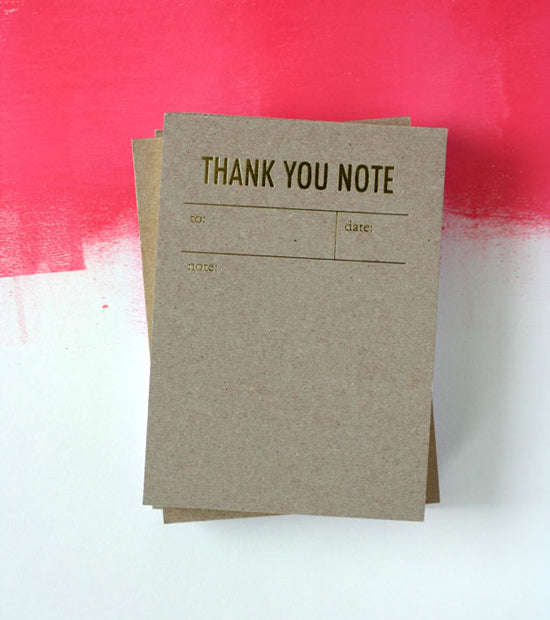 TOKKETOK -THANK YOU NOTEPAD (YELLOW)