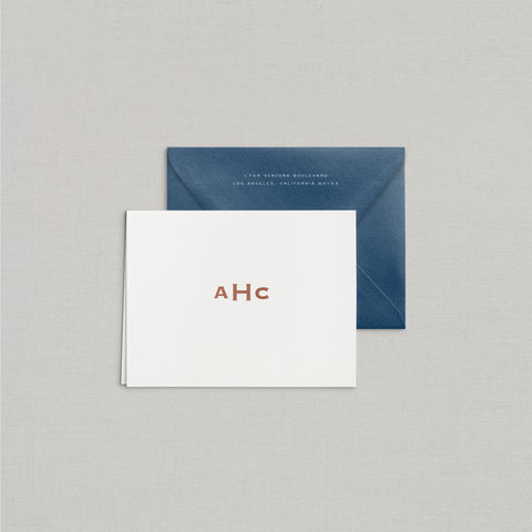Adam Personalized Stationery Small Tented