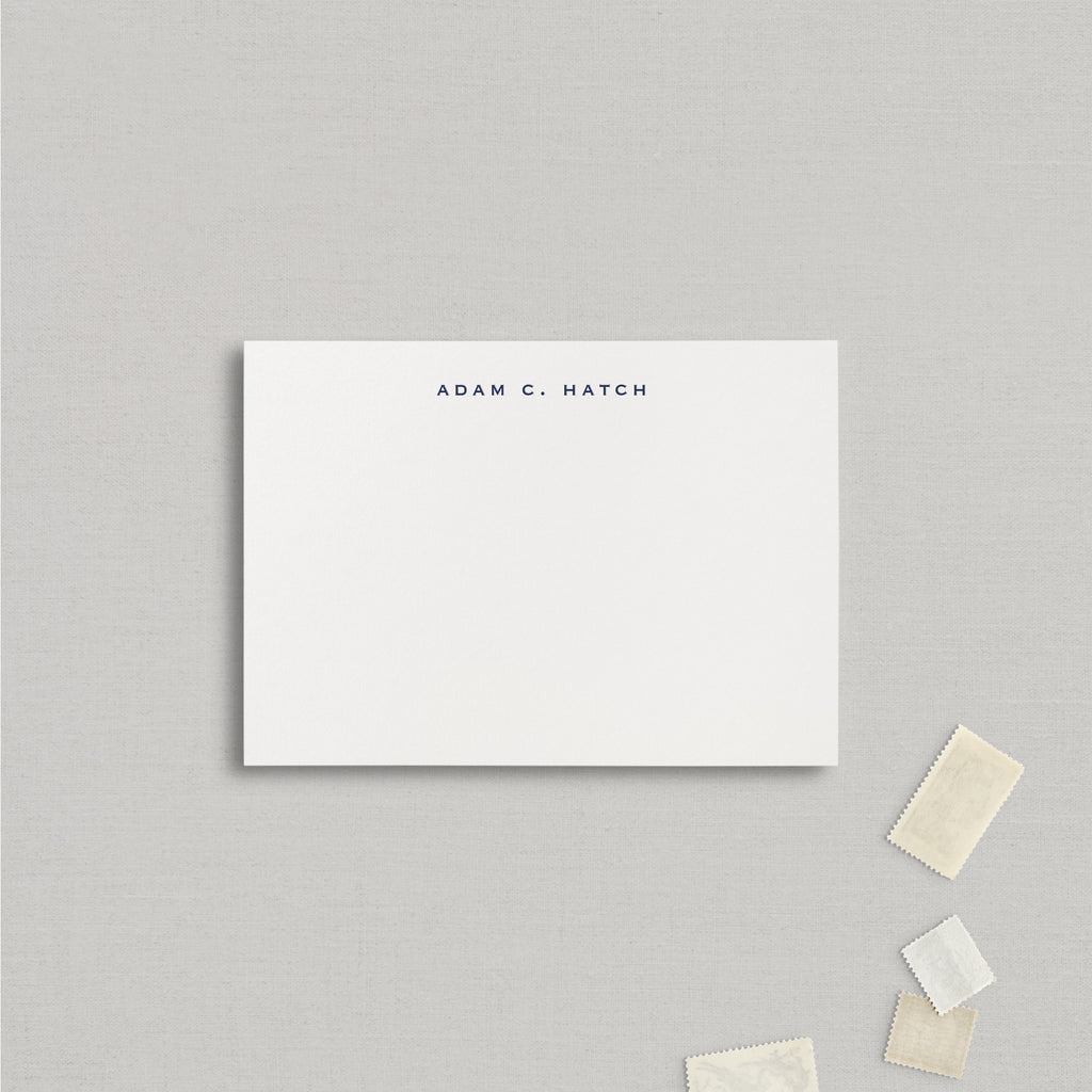 Adam Personalized Stationery Large