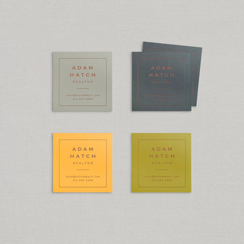 Adam Business Cards Foil