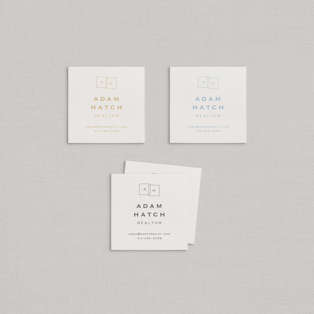 Adam Business Cards Letterpress