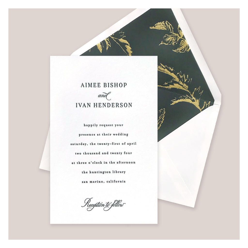 Invite Large 1-color Letterpress