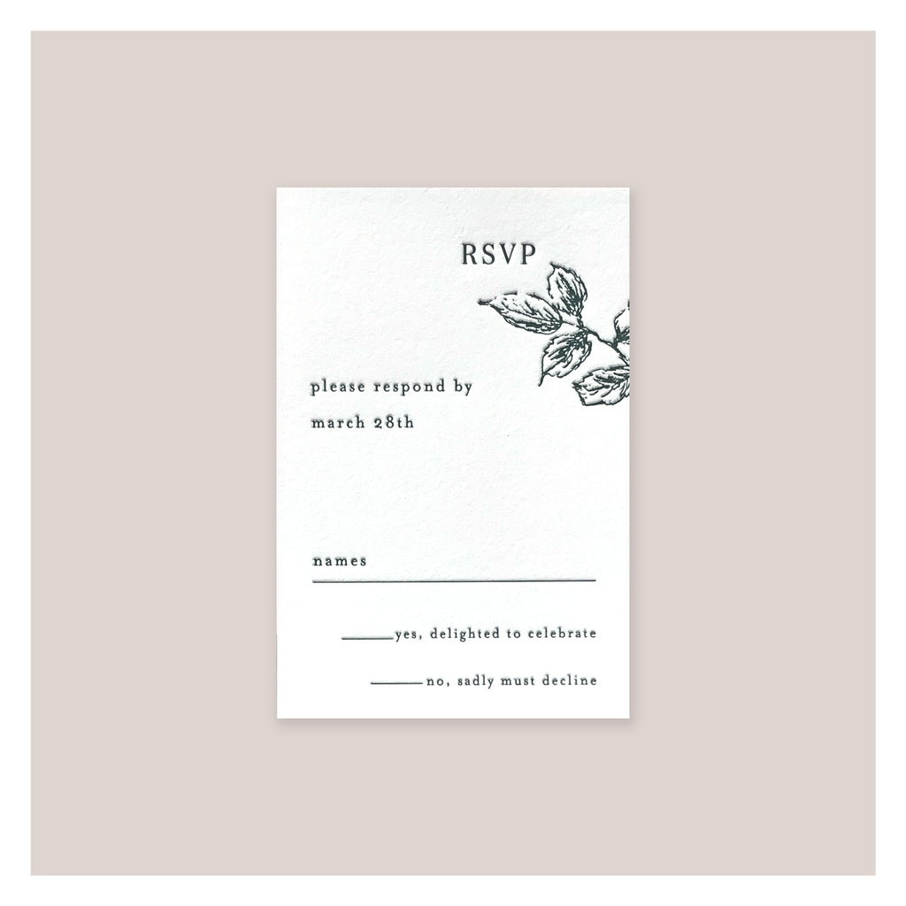 RSVP Small 1-color Letterpress