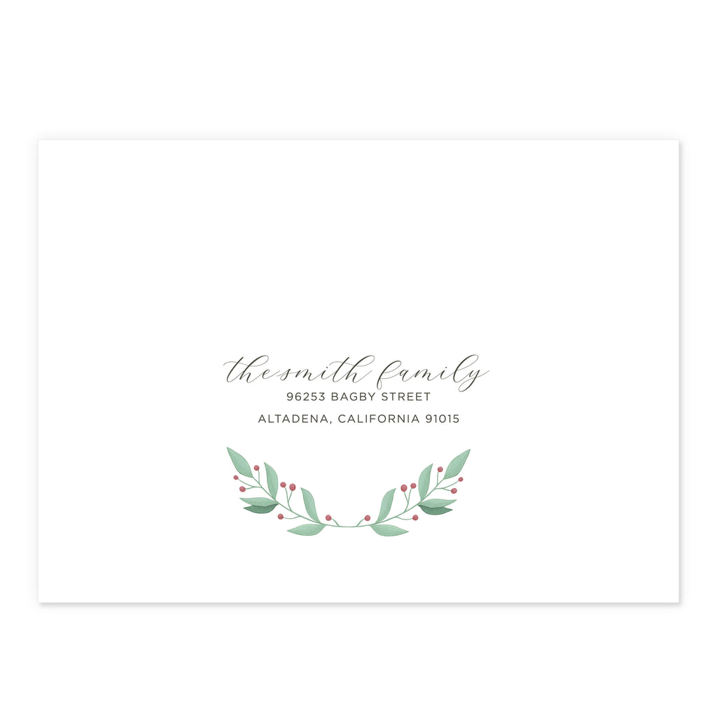 Holiday Guest Address Printing