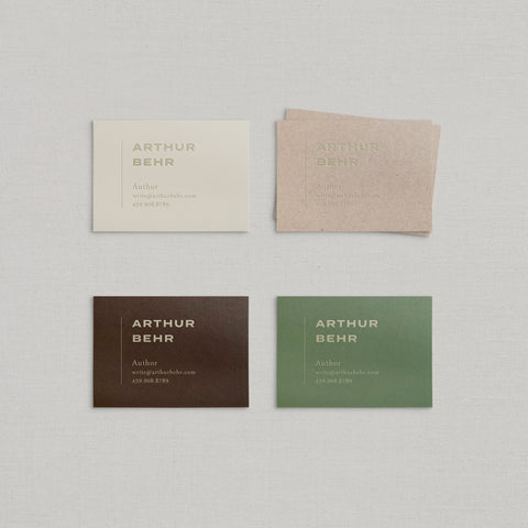 Arthur Business Cards Foil