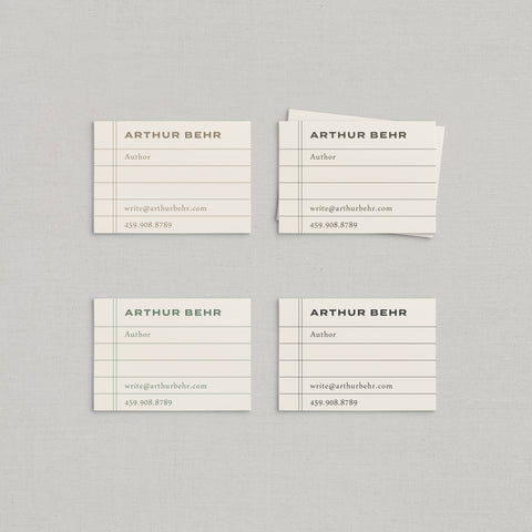 Arthur Business Cards Letterpress