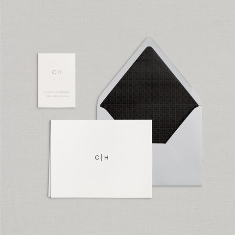 Chase Personalized Stationery Small Tented