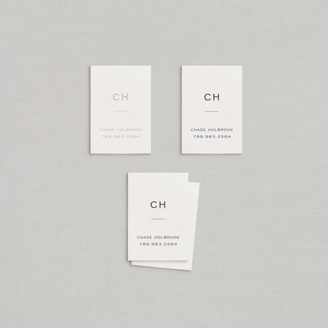 Chase Business Cards Letterpress
