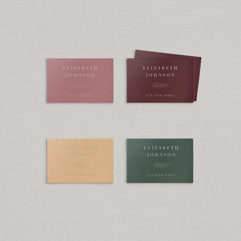 Elizabeth Business Cards Foil