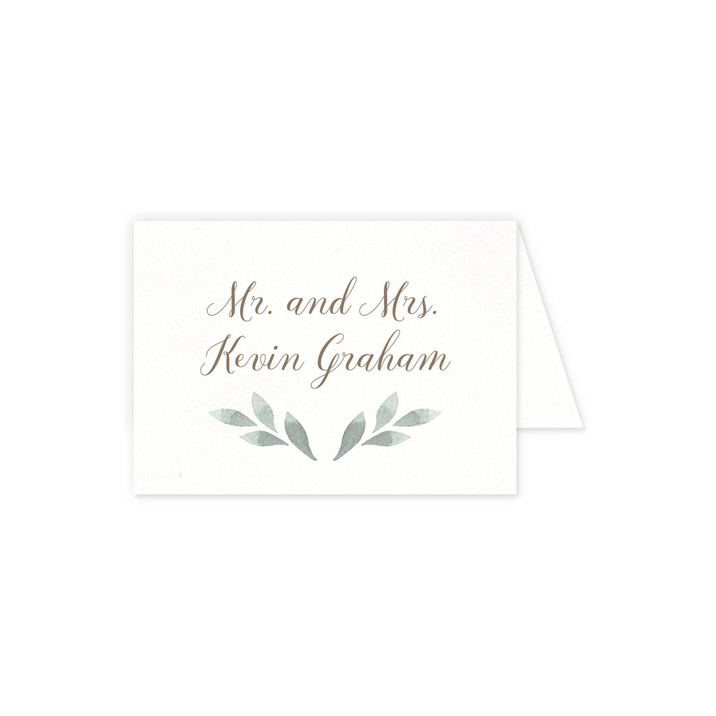 Place cards with guest details