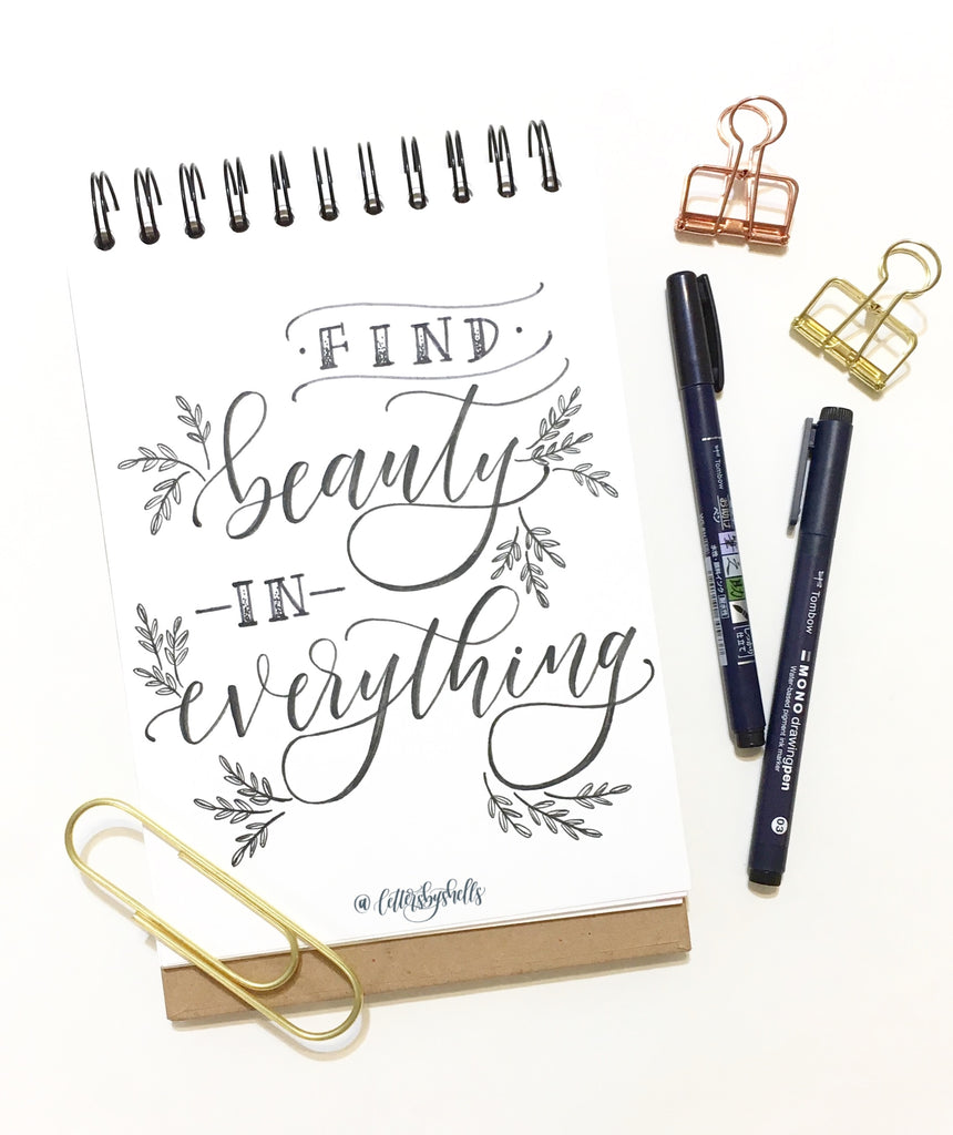 AUGUST 24TH: Modern Brush Lettering with Shelly Kim