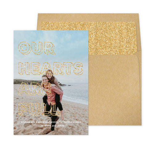 Full Hearts Gold Glitter